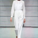Antipodium Catwalk 4 - high waisted trousers with the patent leather waistband