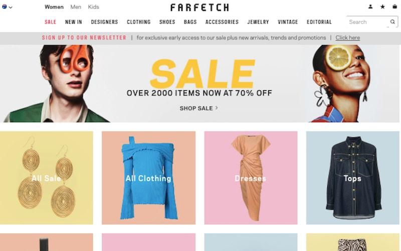 Farfetch-homescreen-Flaunter